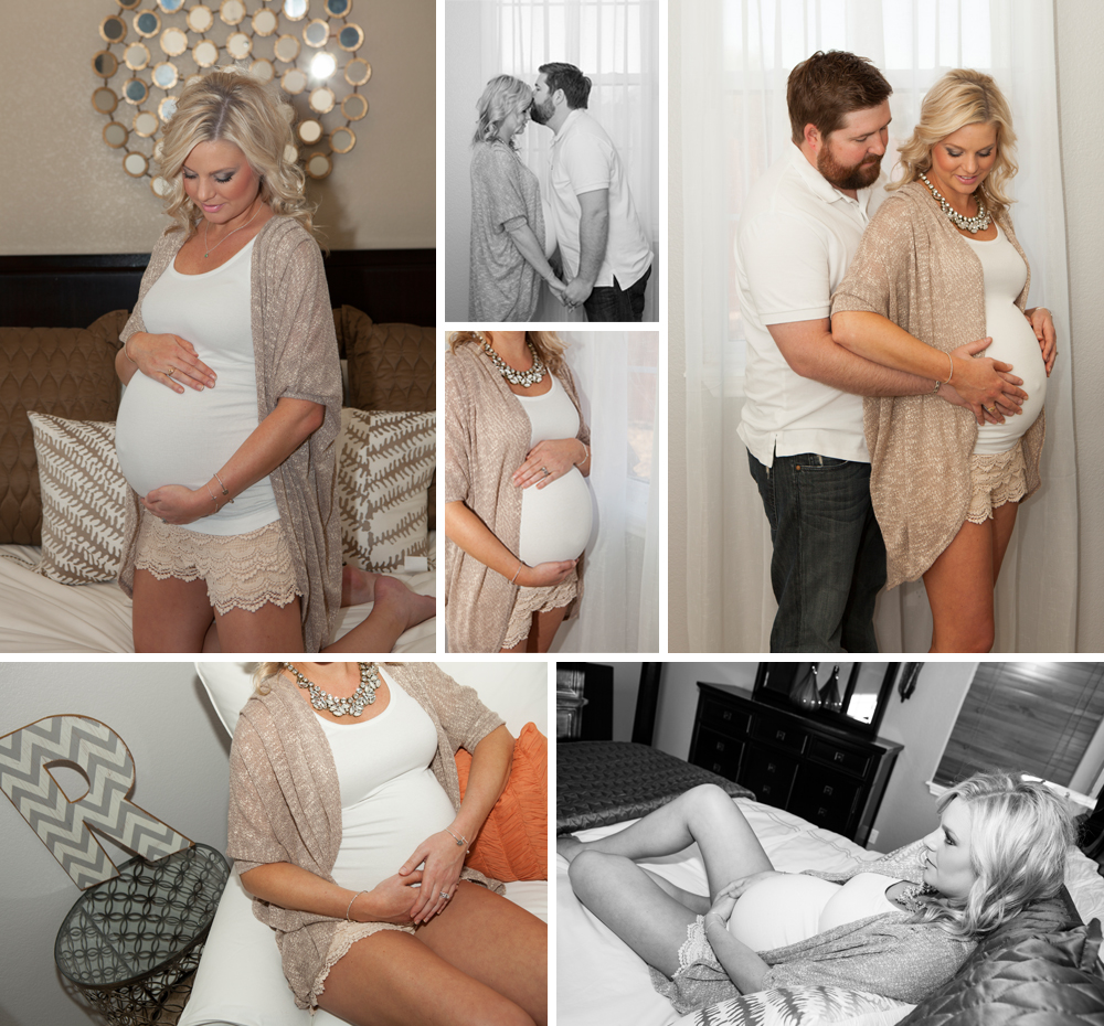 Gorgeous at Home Maternity Shoot